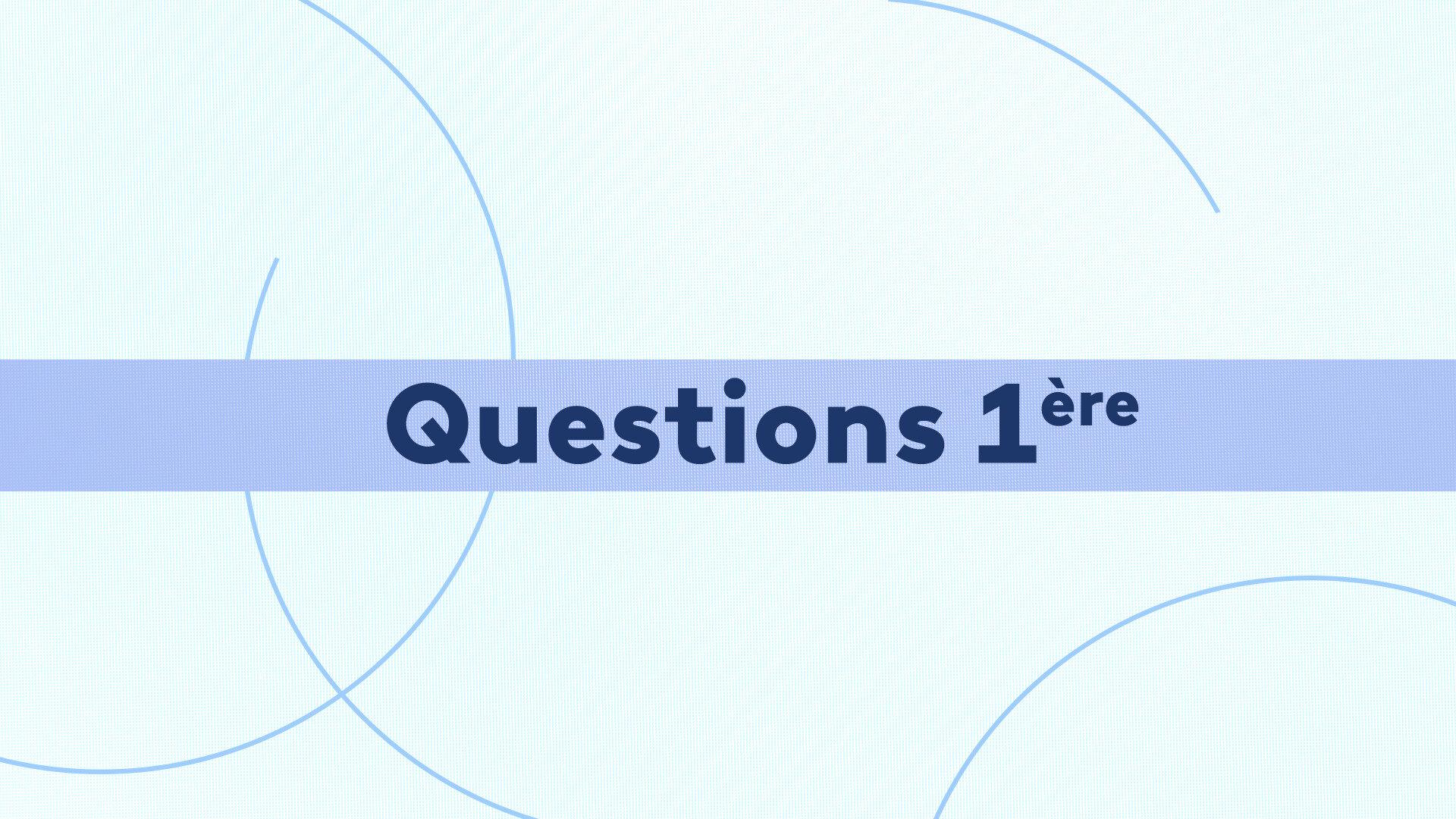 Questions 1ère : Du 06/05/2021